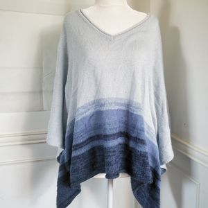 SONOMA Blue Ombre Pancho Knit Sleeveless, S-M